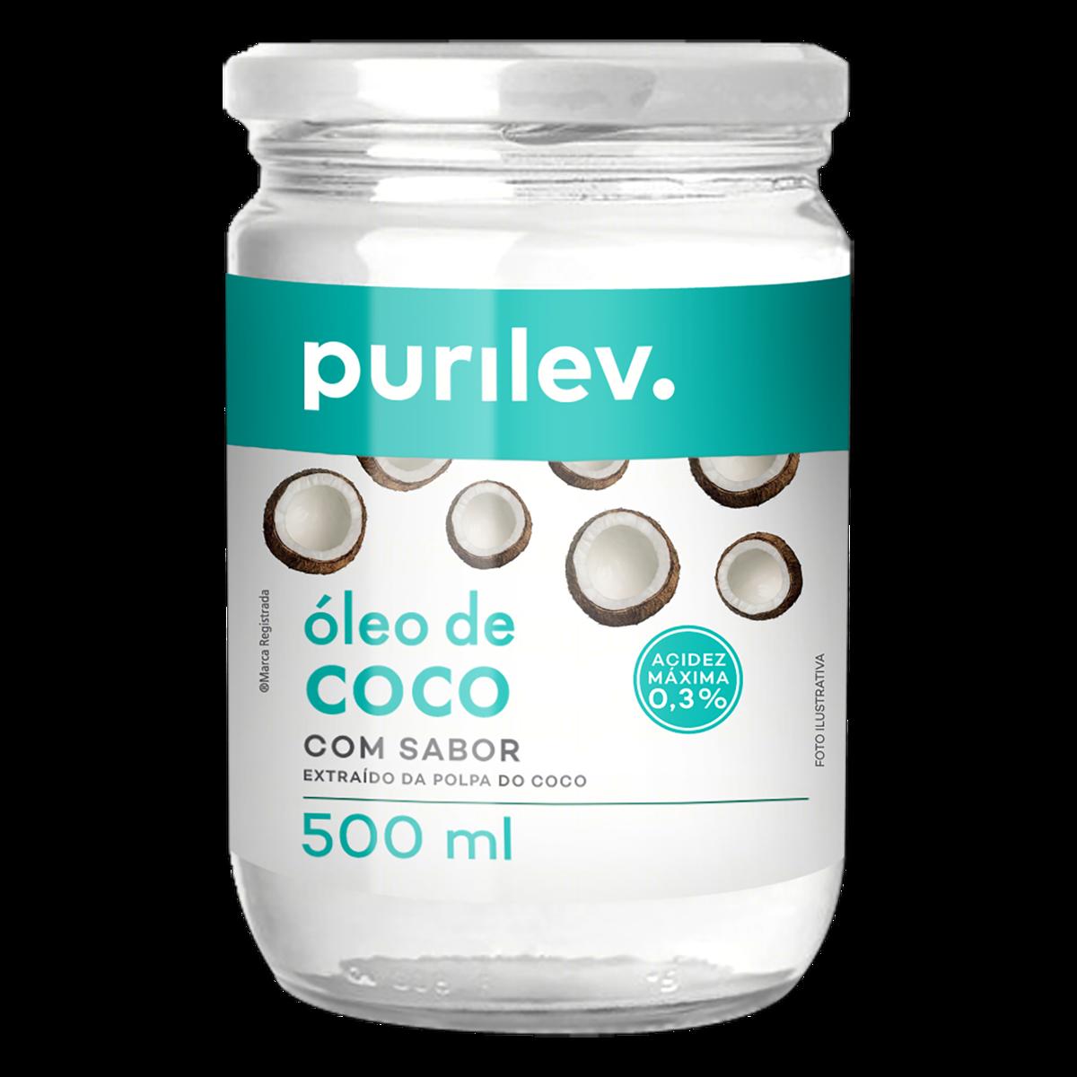 OLEO DE COCO PURILEV 500ML VIDRO