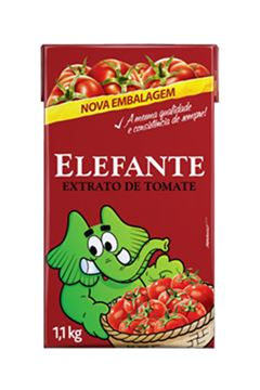 EXTRATO DE TOMATE ELEFANTE 1,100KG TP