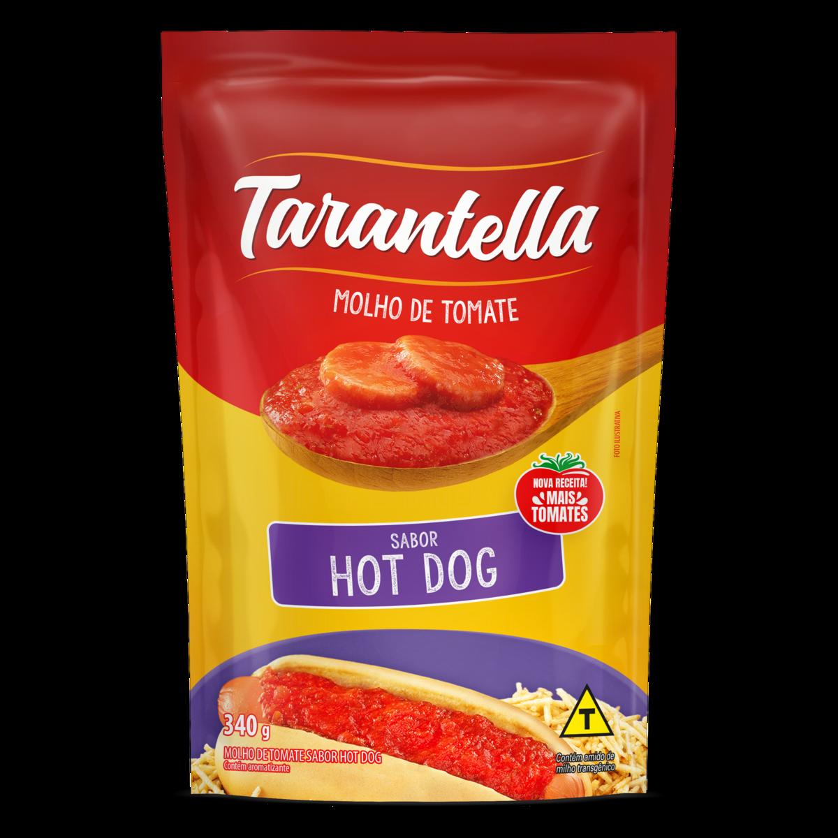 MOLHO TOMATE TARANTELLA 340G SACHE HOT DOG