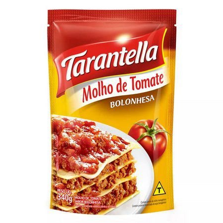 MOLHO TOMATE TARANTELLA 340G SACHE BOLONHESA