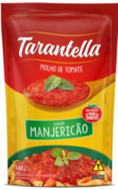 MOLHO TOMATE TARANTELLA 340G SACHE MANJERICAO