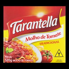 MOLHO TOMATE TARANTELLA 520G TETRA PAK TRADICIONAL