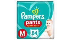 FRALDAS PAMPERS PANTS AJUSTE TOTAL TOP M C/84UN