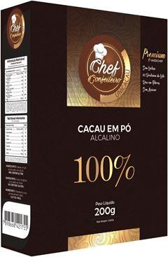 CACAU PO CHEF CONFEITEIRO 100% 200G PREMIUM