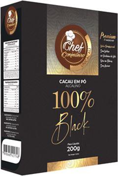 CACAU PO CHEF CONFEITEIRO 100% 200G BLACK