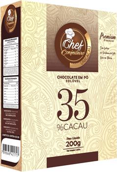CHOCOLATE PO CHEF CONFEITEIRO 35% 200G PREMIUM