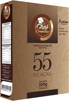 CHOCOLATE PO CHEF CONFEITEIRO 55% 200G PREMIUM