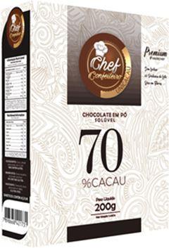 CHOCOLATE PO CHEF CONFEITEIRO 70% 200G PREMIUM