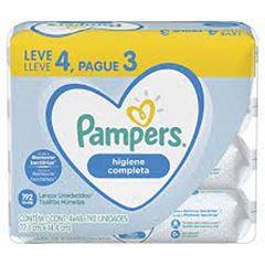 LENCO UMEDECIDO PAMPERS HIGIENE COMPLETA L4P3 C/192UN
