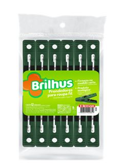 PRENDEDOR ROUPA BRILHUS C/12UN PLASTICO FIT