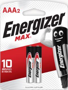 PILHA ENERGIZER ALCALINA AAA2 C/2UN