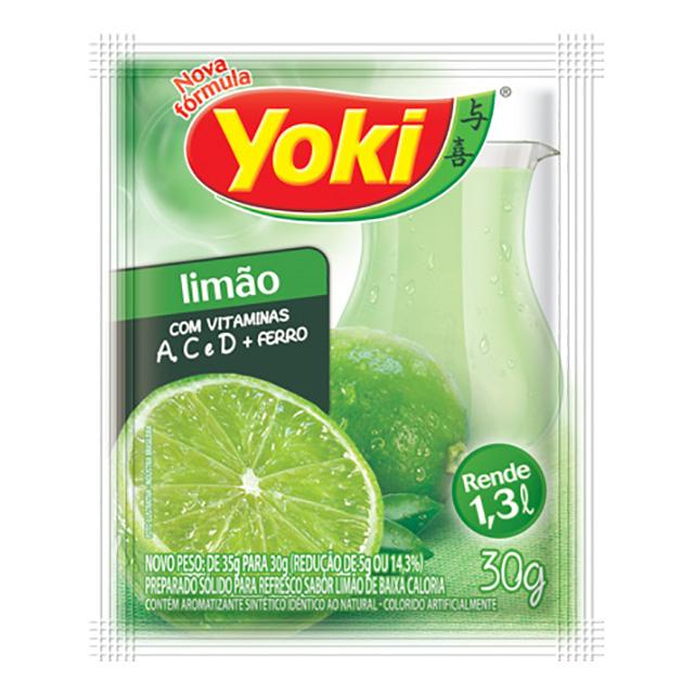 REFRESCO YOKI 15X30G LIMAO